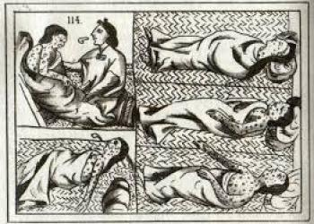 Florentine Codex small pox.