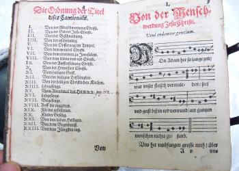 A German hymnal from 1490, photo JAOwen.